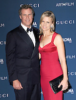 LOS ANGELES, CA - NOVEMBER 02: Will Ferrell &amp; Viveca Paulin at  LACMA 2013 Art + Film Gala held at LACMA  in Los Angeles, California on November 2nd, 2012 in Los Angeles, CA., USA.<br /> CAP/DVS<br /> &copy;DVS/Capital Pictures