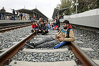 Pictures: Migrants at Stathmos Larissis (Larissa Station) in Athens, Greece. Friday 05 April 2019<br /> Re: Hundreds of migrants have taken over a main railway station in Athens, Greece.