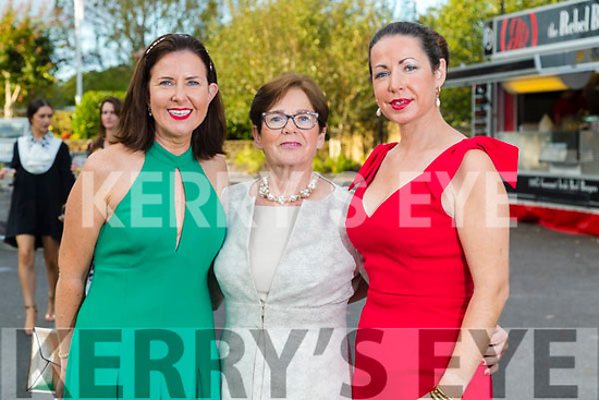 Columba and Kathleen Glavin (Limerick) with Edel Greensmyth (Faha, Killarney) at the Rose of Tralee fashion show at the dome on Sunday night.