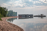 The Hokenson Brothers Fishery stands on the shore of Lake Superior at Little Sand Bay. Operated for more than 30 years by the families of Eskel, Leo and Roy Hokenson, it was an enterprise that started from scratch and eventually prospered due to the Hokensons' resourcefulness, ingenuity and hard work.<br /> <br /> Today, the fishery complex is maintained by the National Park Service. Its rustic buildings and historic artifacts are preserved as a museum where visitors can explore this remnant of the past.