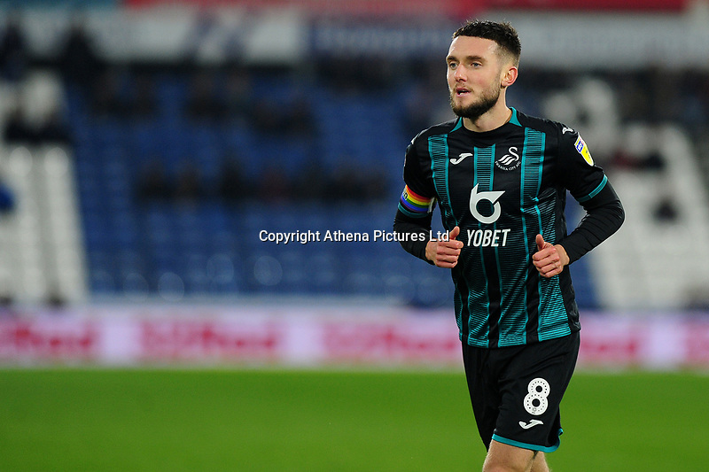 Matt Grimes of Swansea City during the Sky Bet Championship match between Huddersfield Town and Swansea City at The John Smith's Stadium in Huddersfield, England, UK. Tuesday 26 November 2019