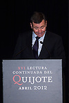 24.04.2012. XVI continued reading of Don Quixote at the Circulo de Bellas Artes in Madrid. In the image Tomas Gomez, Secretary General of the PSOE Madrid (Alterphotos/Marta Gonzalez)
