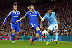 Gael Clichy of Manchester City crosses past Kiev's Domagoj Vida during the UEFA Champions League match at the Etihad Stadium. Photo credit should read: Philip Oldham/Sportimage