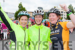 Tralee cyclists Doloras Parker, Celine Ryle and Rosarie Quilter feeling proud after completing the Ring of Kerry cycle in Killarney on Saturday