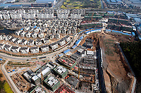 Large scale construction of new housing and apartments in the city of Jiangyin. /Felix Features