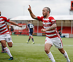 28.04.18 Hamilton v Ross County: Dougie Imrie scores from the penalty spot and celebrates
