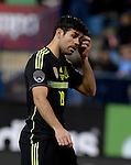 Diego Costa vies during the FIFA friendly football match Spain vs Italy on March 5, 2014 on the eve of their World Cup 2014 at the Vicente Calderon stadium in Madrid.  PHOTOCALL3000 / DP