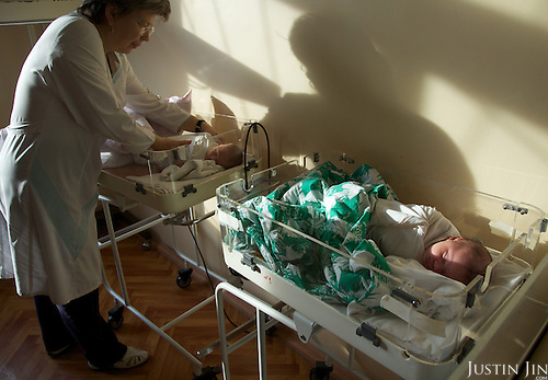 Doctor Irina Kostyan at the children's HIV department in Chelyabinsk.