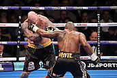 24th March 2018, O2 Arena, London, England; Matchroom Boxing, WBC Silver Heavyweight Title, Dillian Whyte versus Lucas Browne; Dillian Whyte lands the left hand to Lucas Browne