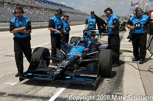 31 May 2008: Danica Patrick (USA) sits in her car before practice at the ABC Supply Company Inc. AJ Foyt 225 IndyCar race at the Milwaukee Mile, West Allis, Wisconsin.