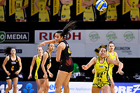 Waikato Bay of Plenty&rsquo;s Eden Anderson in action during the Beko Netball League - Central Manawa v Waikato Bay of Plenty at TSB Bank Arena, Wellington, New Zealand on Sunday 21 April 2019. <br /> Photo by Masanori Udagawa. <br /> www.photowellington.photoshelter.com