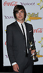 Zac Efron honored with breakthrough performer of the year at the Showest 2009 Awards held at the Paris Hotel in Las Vegas Nevada, April 2, 2009. Fitzroy Barrett