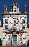 View from the front of the  Hospital de la Caridad (Charitiy Hospital), Seville, Spain, pictured on January 3, 2007, in the afternoon. Founded in 1674 by Miguel de Manara, the Hospital de la Caridad is a refuge for poor and elderly people. An outstanding example of Sevillian Baroque with whitewashed walls and terracotta stonework, it was designed by Pedro Sanchez Falconete. Picture by Manuel Cohen.