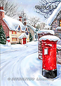 Roger, CHRISTMAS LANDSCAPE, paintings+++++,GBRM813,#XL#
