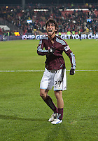 21 November 2010:  Colorado Rapids defender Kosuke Kimura #27 celebrates after winning the 2010 MLS CUP between the Colorado Rapids and FC Dallas at BMO Field in Toronto, Ontario Canada..The Colorado Rapids won 2-1 in extra time....