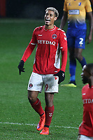 Lyle Taylor celebrates scoring his third goal and Charlton's fourth during Charlton Athletic vs Mansfield Town, Emirates FA Cup Football at The Valley on 20th November 2018