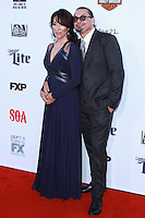 HOLLYWOOD, LOS ANGELES, CA, USA - SEPTEMBER 06: Katey Sagal, Kurt Sutter arrive at the Los Angeles Premiere Of FX's 'Sons Of Anarchy' Season 7 held at the TCL Chinese Theatre on September 6, 2014 in Hollywood, Los Angeles, California, United States. (Photo by David Acosta/Celebrity Monitor)
