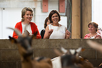 Queen Mathilde Of Belgium visits farms - Belgium