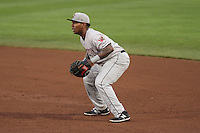 Wisconsin Timber Rattlers first baseman David Denson (13) during a Midwest League game against the Quad Cities River Bandits on May 8th, 2015 at Modern Woodmen Park in Davenport, Iowa.  Quad Cities defeated Wisconsin 11-6.  (Brad Krause/Four Seam Images)