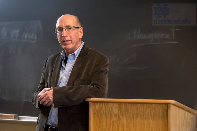 Mar. 26, 2015; Professor John Dufffy - Ganey Award.  (Photo by Barbara Johnston/University of Notre Dame)
