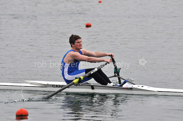 294 CanfordSch J16A.1x..Marlow Regatta Committee Thames Valley Trial Head. 1900m at Dorney Lake/Eton College Rowing Centre, Dorney, Buckinghamshire. Sunday 29 January 2012. Run over three divisions.