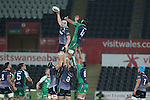Ospreys lock Rynier Bernardo beats Connacht lock Mike Kearney to the lineout ball.<br /> Guiness Pro12<br /> Ospreys v Connacht<br /> Liberty Stadium<br /> 31.10.14<br /> &copy;Steve Pope-SPORTINGWALES