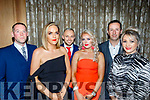 L-R Jonathon Burrows, Leah Hamill, James&Mags Sugrue with Adrain&Jeanette Quirke at the Lee Strand social last Saturday night in the Ballygarry House hotel, Tralee.