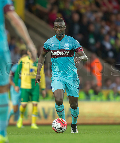 28.07.2015.  Norwich, England. Pre Season Friendly between Norwich City and West Ham United.  West Ham United's Modibo Maiga.