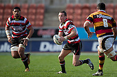 James Semple brings the ball forward. ITM Cup rugby game between Waikato and Counties Manukau, played at Waikato Stadium, Hamilton on Saturday 28th August 2010..Waikato won 39 - 3.