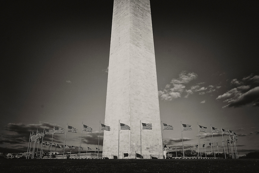 The Washington Monument and United States Capitol in Washington.