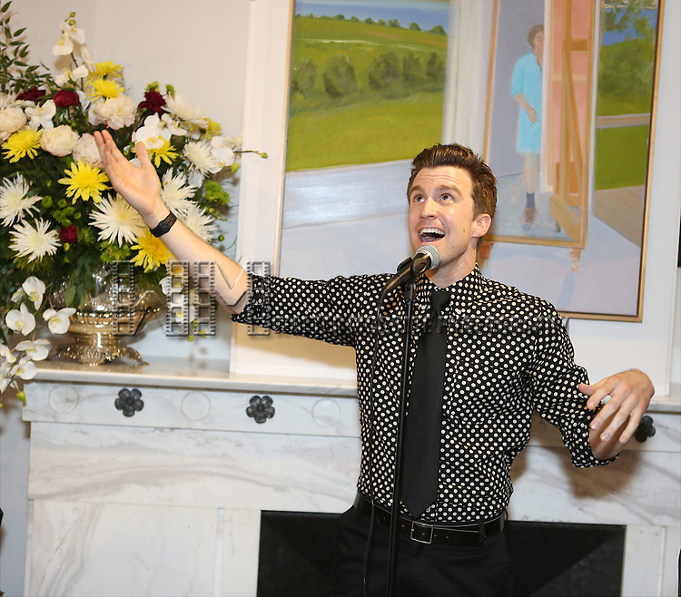 Gavin Creel performs at 'Parlor Night' A benefit evening for The Broadway Inspirational Voices Outreach Program at the home of Roy and Jenny Neiderhoffer on June 22, 2015 in New York City.