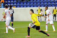 New York Red Bulls goalkeeper Santiago Castano (1). The USMNT U-17 defeated New York Red Bulls U-18 4-1 during a friendly at Red Bull Arena in Harrison, NJ, on October 09, 2010.
