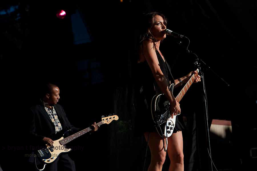 Susanna Hoffs of The Bangles plays during the 2010 Lilith Fair in Mountain View, California.