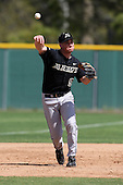 March 13, 2010:  Third Baseman Brandon Hines of Army vs. Long Island University Blackbirds in a game at Henley Field in Lakeland, FL.  Photo By Mike Janes/Four Seam Images