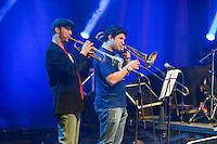 PIRACICABA,SP 23.05.2015 - VIRADA PAULISTA - Banda de Jazz Hot Club de Piracicaba durante a Virada Cultural Paulista na cidade de Piracicaba interior de São Paulo na noite deste sábado, 23 ( Foto: Mauricio Bento / Brazil Photo Press)
