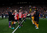Bradford players hold a guard of honour for the Sheffield Utd players during the English League One match at Bramall Lane Stadium, Sheffield. Picture date: April 17th 2017. Pic credit should read: Simon Bellis/Sportimage