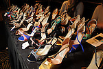 A selection of shoes at the bazaar at the Resiliency Lunch at the Hotel ZaZa Saturday Oct. 27,2012.(Dave Rossman photo)