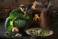 """Europe/France/Bretagne/22/Côtes d'Armor/Chateau de Rosambo: Soupe au chou et jambon - Recette de """"l'hôtel des Iles"""""""