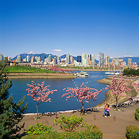 Vancouver, BC, British Columbia, Canada - City Skyline and False Creek in Spring