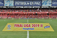 CALI - COLOMBIA, 07-12-2019: Previa al partido por la final vuelta, de la Liga Águila II 2019 entre América de Cali y Atlético Junior jugado en el estadio Pascual Guerrero de la ciudad de Cali. / Prior match for the second leg final match, as part of Aguila League II 2019 between America de Cali and Atletico Junior played at Pascual Guerrero stadium in Cali. Photo: VizzorImage / Alejandro Rosales / Cont