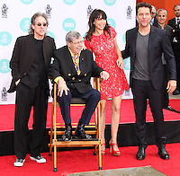 HOLLYWOOD, LOS ANGELES, CA, USA - APRIL 12: Richard Lewis, Jerry Lewis, Illeana Douglas, Dane Cook at the Jerry Lewis Hand And Footprint Ceremony during the 2014 TCM Classic Film Festival held at the TCL Chinese Theatre IMAX on April 12, 2014 in Hollywood, Los Angles, California, United States. (Photo by Xavier Collin/Celebrity Monitor)
