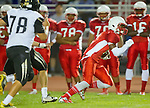Lawndale, CA 09/26/14 - Jalen Walker (Lawndale #2) in action during the Palos Verdes Peninsula vs Lawndale CIF Varsity football game at Lawndale High School.  Lawndale defeated Peninsula 42-21