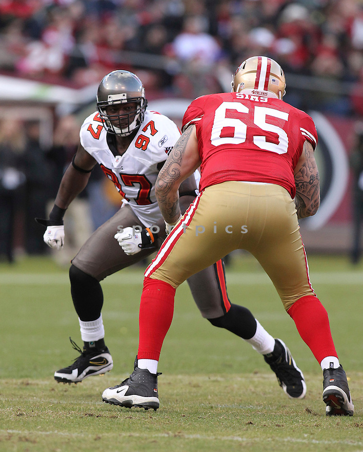 ALEX MAGEE, of the Tampa Bay Buccaneers in action during the Buccaneers game against the San Francisco 49ers on November 21, 2010 at Candlestick Park in San Francisco, California...Buccaneers beat the 49ers 21-0.
