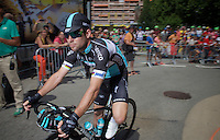 Mark Cavendish (GBR/Etixx-QuickStep) to the start<br /> <br /> stage 19: St-Jean-de-Maurienne - La Toussuire / Les Sybelles   (138km)<br /> Tour de France 2015