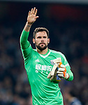 West Brom's Ben Foster waves to the crowd during the premier league match at the Emirates Stadium, London. Picture date 25th September 2017. Picture credit should read: David Klein/Sportimage