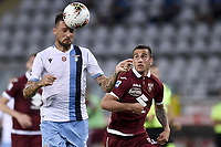 Francesco Acerbi of SS Lazio , Alex Berenguer of Torino FC <br /> during the Serie A football match between Torino FC and SS Lazio at stadio Olimpico in Turin ( Italy ), June 30th, 2020. Play resumes behind closed doors following the outbreak of the coronavirus disease. <br /> Photo Image Sport / Insidefoto