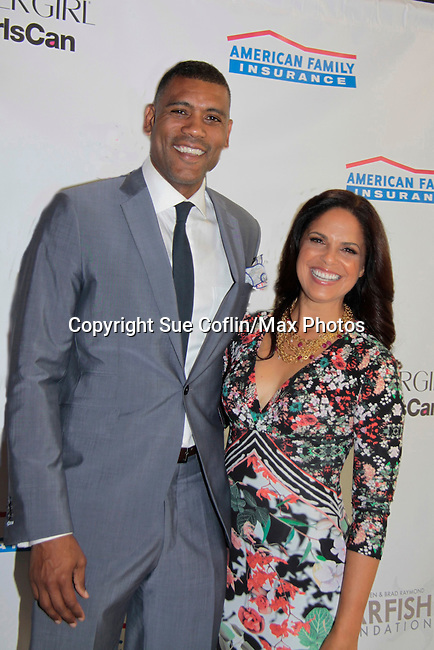 Allan Houston (NBA Basketball player) & Soledad O'Brien  - Soledad O'Brien and Brad Raymond Starfish Foundation presents New Orleans to New York City 2014 Gala on July 24, 2014 at Espace, New York City for VIP Cocktail Reception, dinner, entertainment with Grammy Award winning Trumpeteer Irvin Mayfield (also Board president) and the New Orleans Jazz Orchestra. (Photo by Sue Coflin/Max Photos)
