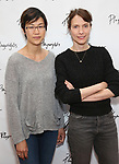 Cindy Cheung and Dolly Wells attends the photo call for Playwrights Horizons world premiere production of 'Log Cabin' on May 8, 2018 at Playwrights Horizons rehearsal hall in New York City.