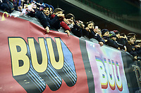 Young supporters near banners against Racism <br /> Milano 19-1-2019 Giuseppe Meazza stadium Football Serie A 2018/2019 Inter - Sassuolo <br /> Foto Image Sport / Insidefoto