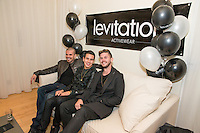 Erik Rosete, Sean Scott and Tyler McDaniel attend Levitation Activewear presents Sean Scott's Birthday Bash at SKYBAR on Dec. 17, 2015 (Photo by Inae Bloom/Guest of a Guest)